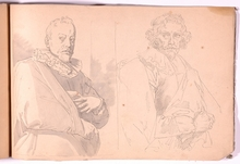 "Friedrich Ritter VON AMERLING - Disegno Acquarello - ""Academical Sketchbook"", 35 Drawings"