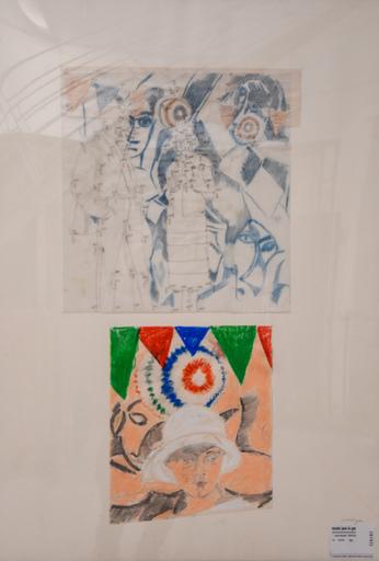 Jean LE GAC - Drawing-Watercolor - La visite aux demoiselles d'Avignon