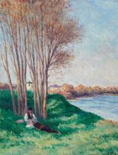 Maximilien LUCE (1858-1941) - Printemps Saint-Ay de la Loire