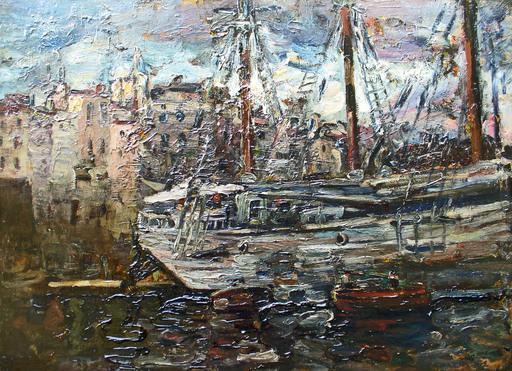 Jean Jacques ROQUE - Pintura - LE PORT DE MARSEILLE