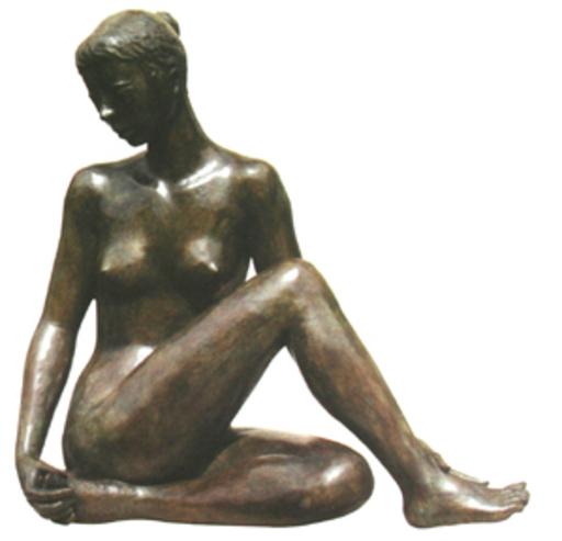 Jacques COQUILLAY - Escultura - Jeune fille assise
