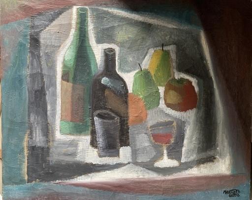 """Nicolás MARTINEZ ORTIZ DE ZARATE - Gemälde - """"Bodegón cubista"""""""