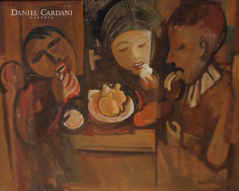 Francisco BORES - Peinture - Niños comiendo
