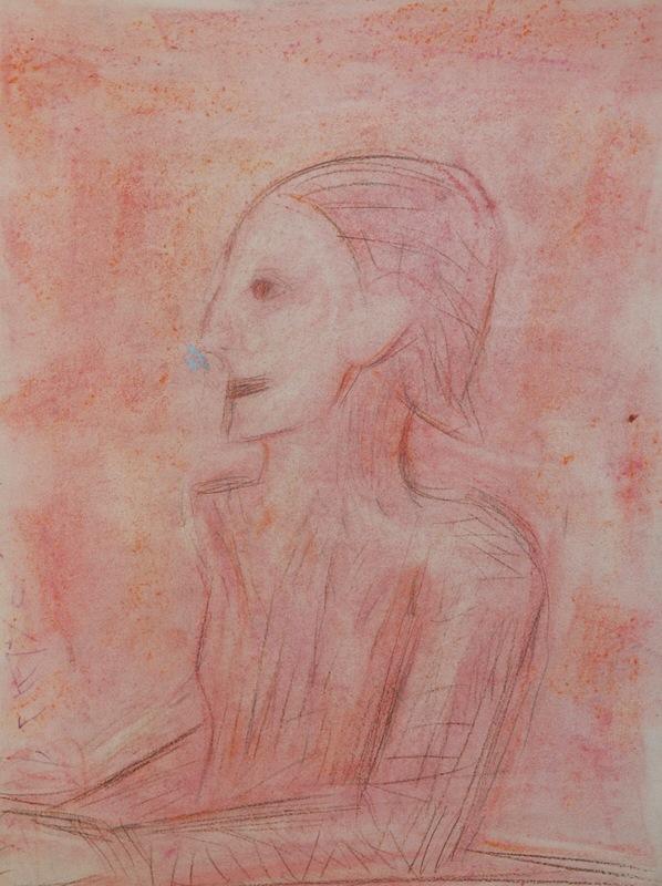 Pere GASTO VILANOVA - Disegno Acquarello - Hombre de rosa