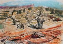 Willy EISENSCHITZ - Dibujo Acuarela - Afrika