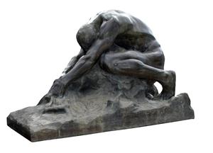 Gaetano CELLINI - Sculpture-Volume -  Humanity Against Evil / L'umanità contro il male, 1906