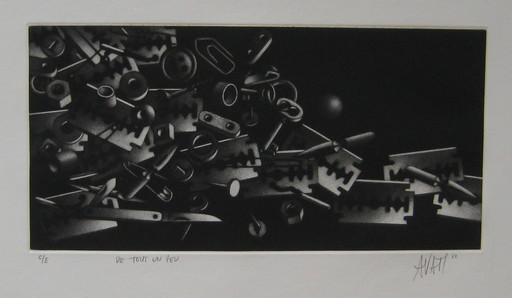 Mario AVATI - Druckgrafik-Multiple - GRAVURE 1968 SIGNÉE AU CRAYON NUM/E HANDSIGNED ETCHING