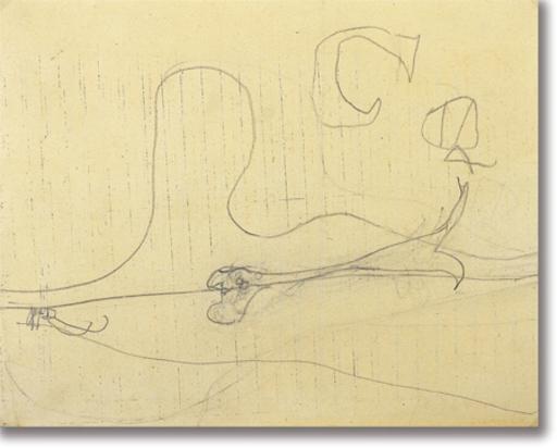 Osvaldo LICINI - Zeichnung Aquarell - Amalassunta