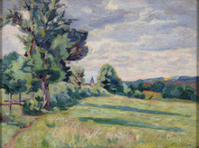 Armand GUILLAUMIN - Pintura - Paturages des Granges, Crozant