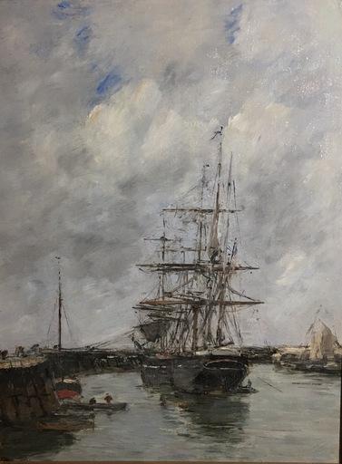 Eugène BOUDIN - Peinture - Trouville, Jetée marée haute