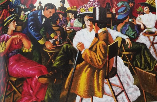 Jacob GILDOR - Painting - Eduardian Cafe