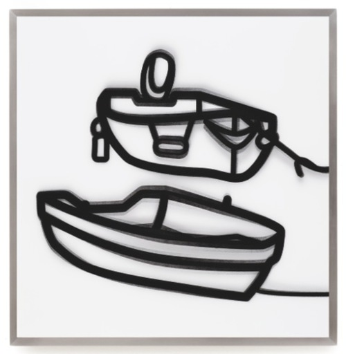Julian OPIE - Estampe-Multiple - Lenticular Boats 2