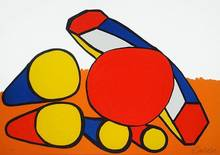 Alexander CALDER - Print-Multiple - Composition with Circles and Tubes
