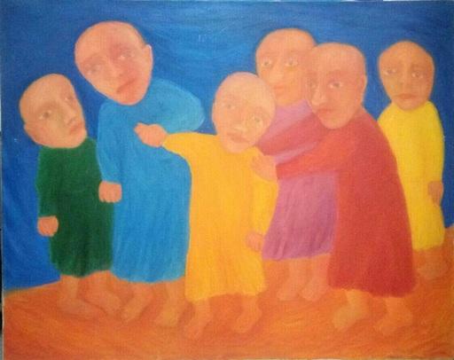 Elena FIGOURINA - Painting - The people
