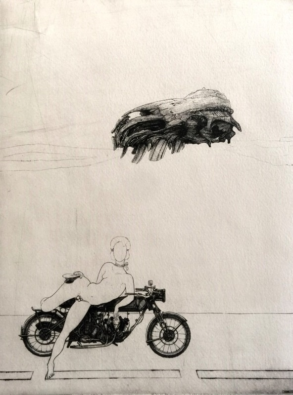Philippe MOHLITZ - Print-Multiple - Jeune hermaphrodite disposant d'une motocyclette