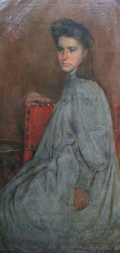 Charles MERTENS - Pintura - Jeune adolescente