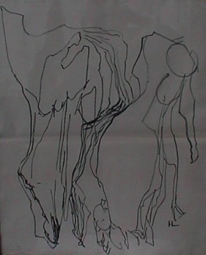 Henri LAURENS - Zeichnung Aquarell