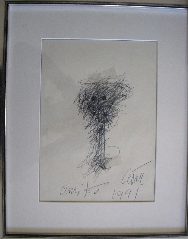CÉSAR - Drawing-Watercolor - VISAGE