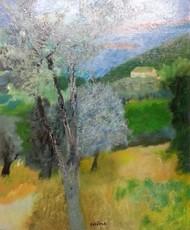 Guy BARDONE - Pintura - La ferme isolee, Bandol