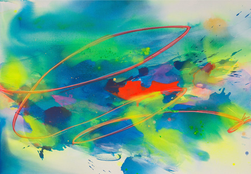 Maria BACHA - Gemälde - New Light II (Abstract painting)