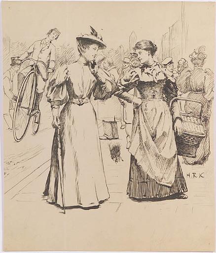 Rudolf KAESER-RUEFF - Dessin-Aquarelle - Belle Epoque Scene, ca 1900