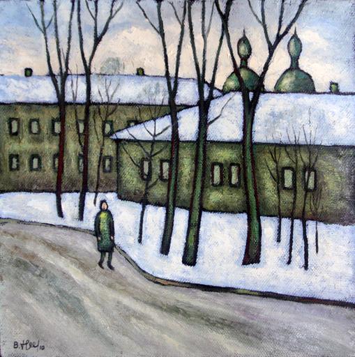 Valeriy NESTEROV - Gemälde - Yauzskiy Boulevard. Moscow