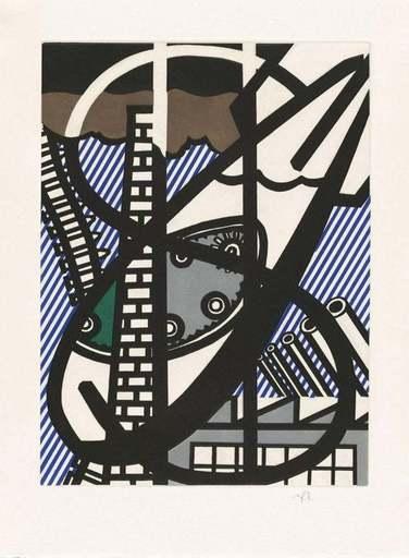 Roy LICHTENSTEIN - Print-Multiple - Une fenetre ouverte sur Chicago