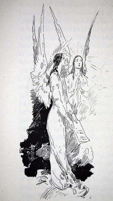 Ulpiano CHECA Y SANZ - Drawing-Watercolor - Songes - Anges- Ángeles