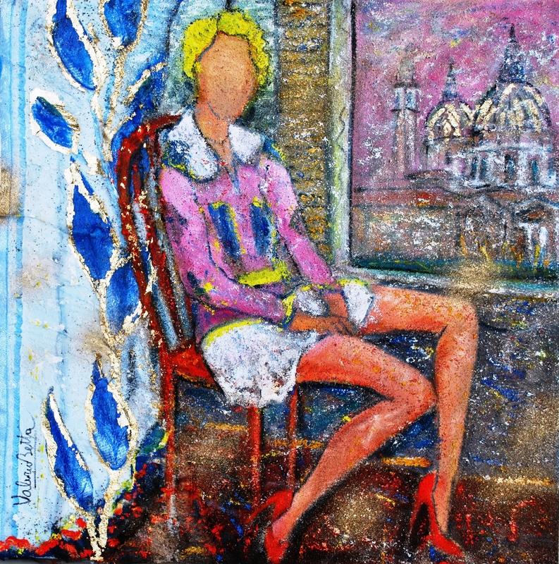 Valerio BETTA - Pintura - Giovane modella - Yang model