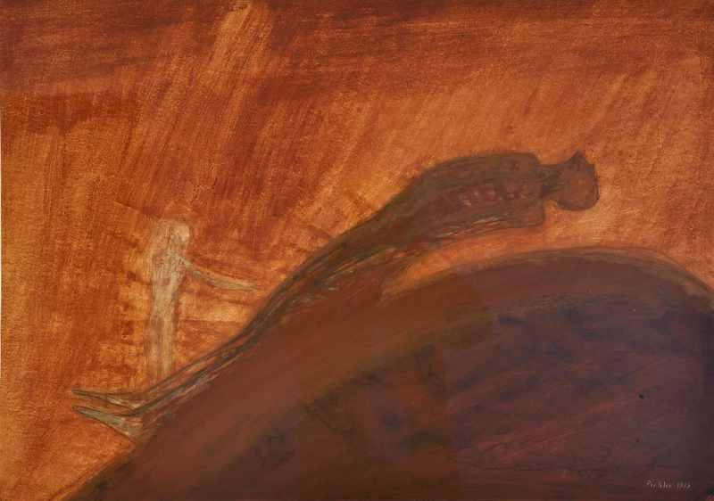 Walter PICHLER - Dessin-Aquarelle - Luft im Rücken