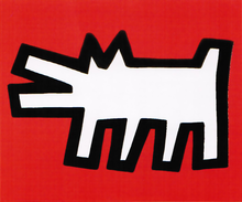 Keith HARING (1958-1990) - Barking dog ( Icons Series)