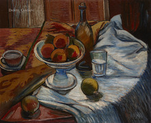 Rafael ZABALETA FUENTES - Painting - Bodegón de las granadas