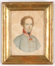"Karl Josef Aloys AGRICOLA (Attrib.) - Miniature - ""Alfred I, Prince of Windisch-Graetz"", Watercolor, 1820/30s"