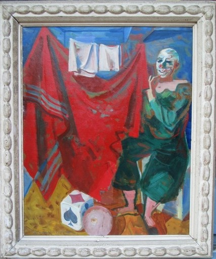 Maurice Georges PONCELET - Painting - Le CLOWN