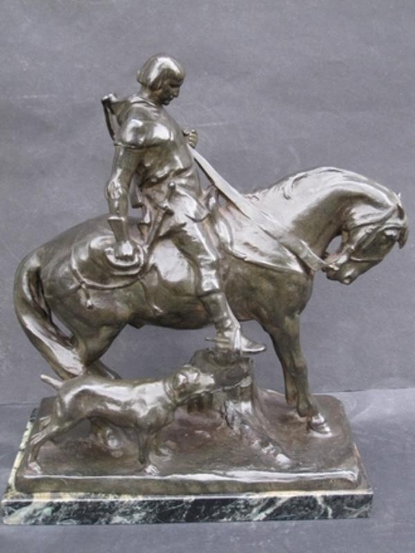 Hans MÜLLER - Escultura - Sanctus Hubertus.