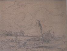 Friedrich I PRELLER - Drawing-Watercolor - Resting in the field