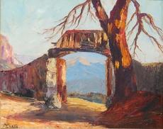 Francis CARIFFA - Pintura - SAVOIE - Depuis le haut de CHANAZ à la croix de LA COCHE