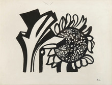 Fernand LÉGER - Drawing-Watercolor - Tournesol