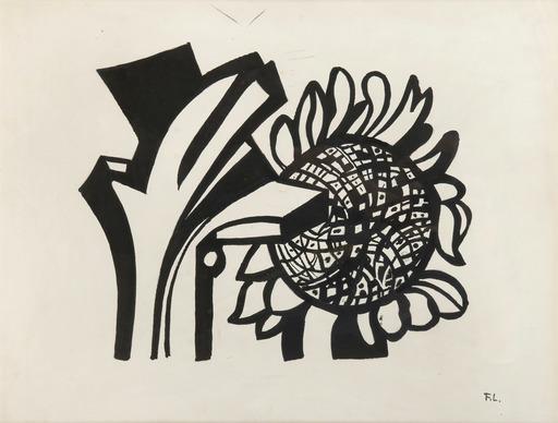 Fernand LÉGER - Dessin-Aquarelle - Tournesol