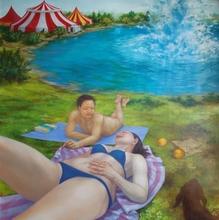 Hiromi SENGOKU - Pittura - The circus in the beginning of the world