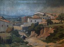 Fritz RYSER - Peinture - A Village on the Costa Brava