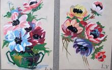 路易斯·瓦尔塔 - 水彩作品 - Bouquet de fleurs