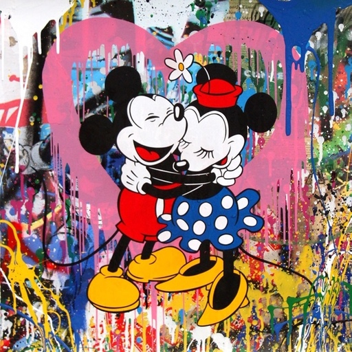 MR BRAINWASH - Pintura - Mickey & Minnie