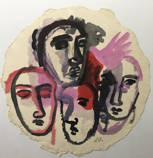 Sandro CHIA - Drawing-Watercolor - SENZA TITOLO