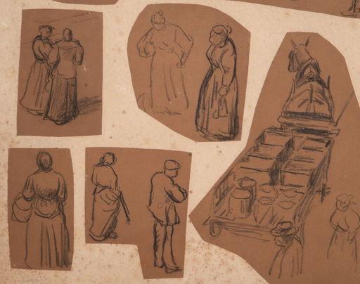 马克西米·卢斯 - 水彩作品 - 11 drawings-Workers
