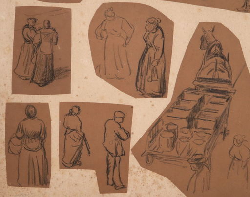 Maximilien LUCE - Zeichnung Aquarell - 11 drawings-Workers