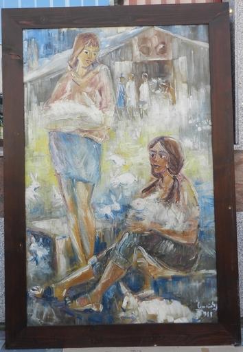 Ladislav CEMICKI - Painting - Zeny na dedine