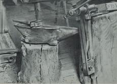 Claude YVEL - Drawing-Watercolor - Schmiede