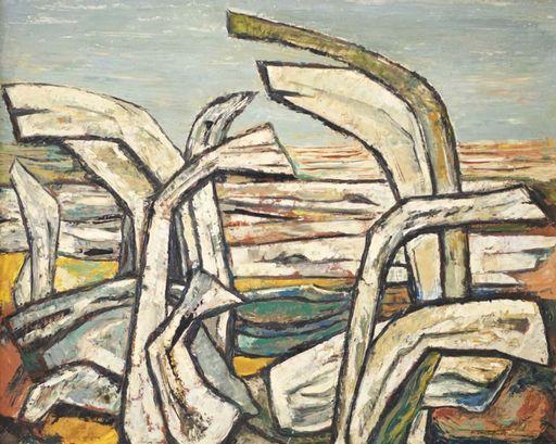 Fritz BRANDTNER - Painting - Driftwood