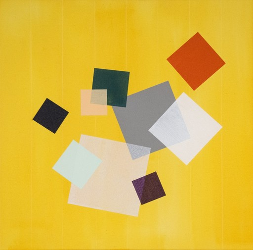 Milly RISTVEDT - Painting - Yellow Grid Play